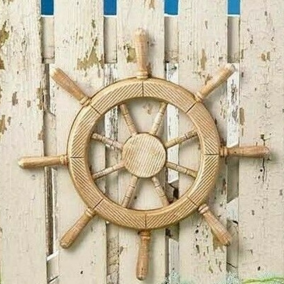 Nautical Other New 19 Inch Wooden Boat Steering Wheel Poshmark